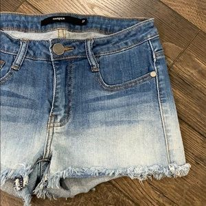 Ombré Denim Cut Off Shorts